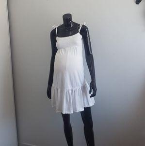 Mama Spagheti Stap Short Martenity Midi Dress
